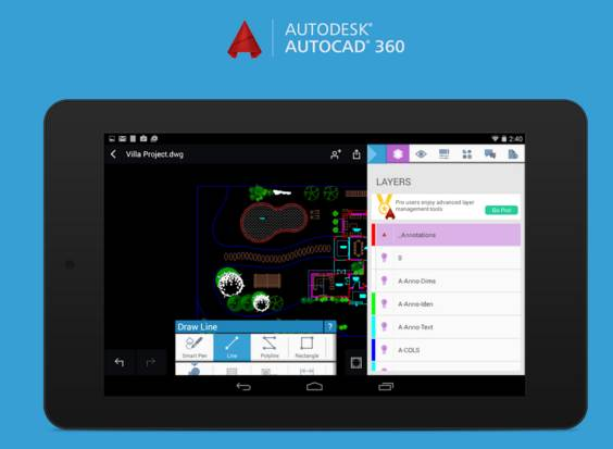 autocad 360 android