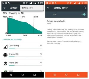 moto g3 2rd gen battery saver