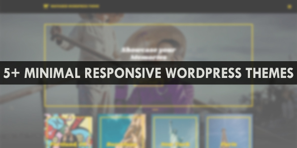 minimal wordpress themes responsive